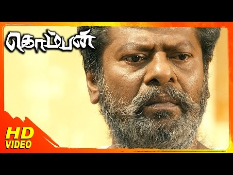 Komban Tamil Movie | Scenes | Karthi Fights G Marimuthu | Rajkiran