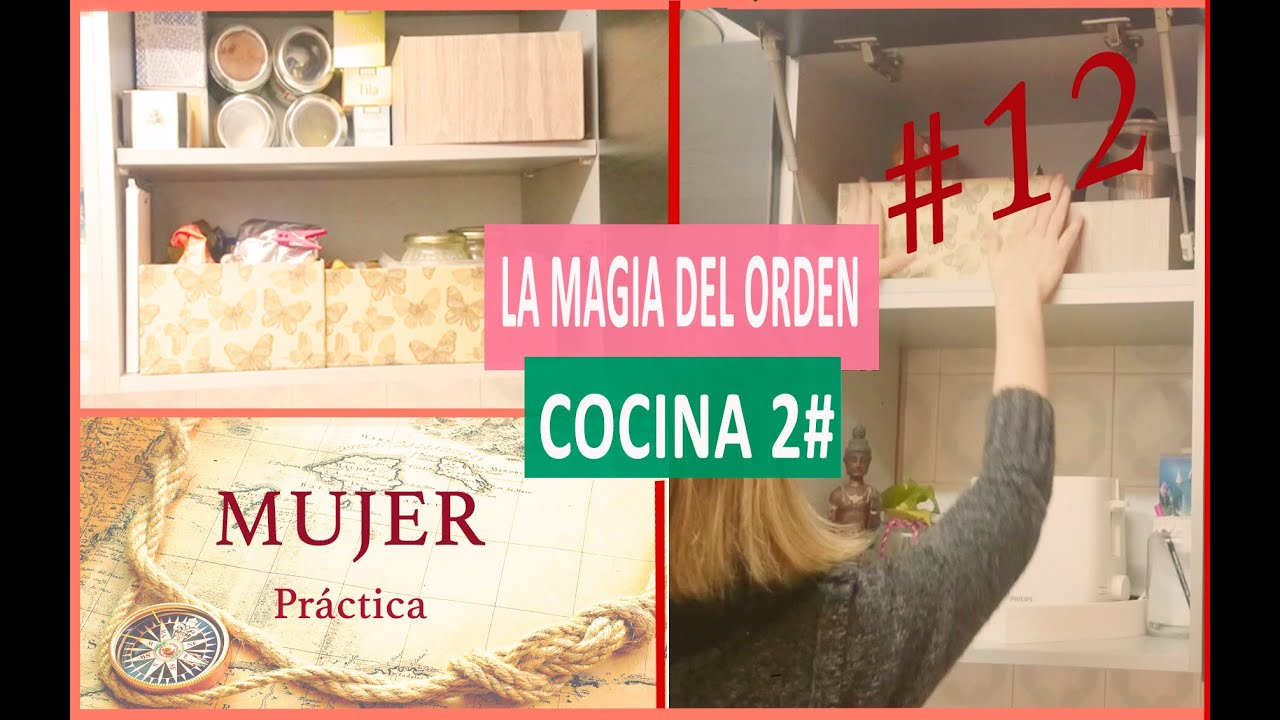 Cocina ordenada m todo konmari 12 youtube for Ordenar libros konmari