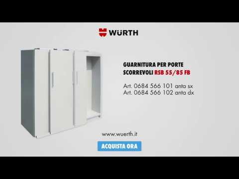 Meccanismo Ante Scorrevoli Complanari.Guarnitura Complanare Per Porte Scorrevoli In Legno Wurth Youtube
