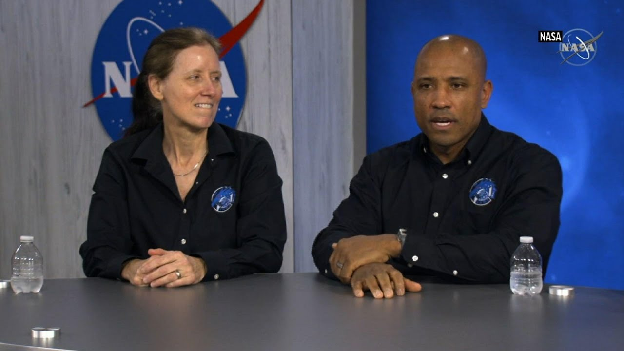 Astronauts answer questions after return to Earth