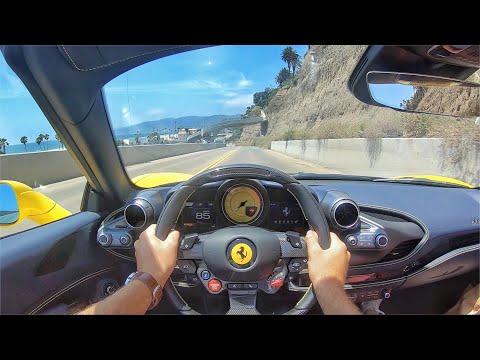 2020 Ferrari F8 Spider POV Test Drive (ASMR)