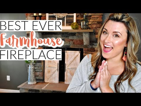 FARMHOUSE STYLE FIREPLACE & HEARTH DECOR | DECORATE WITH ME! | Cook Clean And Repeat