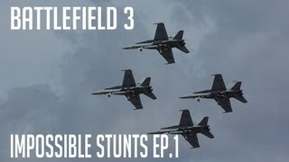 Battlefield 3 : Impossible stunts - 4 jets under the pipeline
