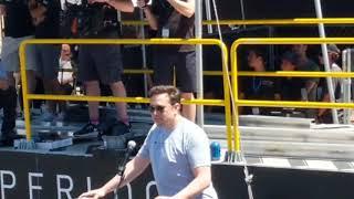 Elon Musk speaks at Hyperloop Pod Competition