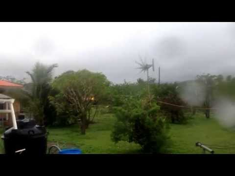 Missouri Wind Turbine stand up to 88 Mph gust Hurricane Gonzalo 2014