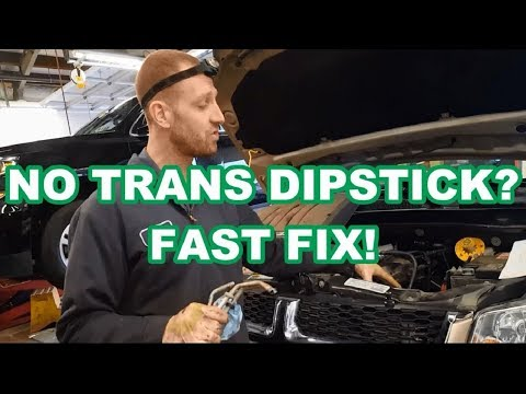 NO TRANS DIPSTICK FAST FIX 3.6L Chrysler Town and Country / Caravan 62TE check transmission fluid