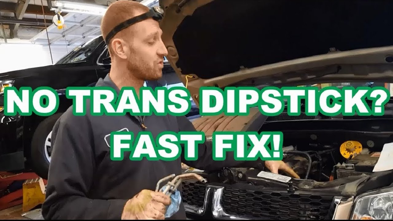 NO TRANS DIPSTICK FAST FIX 3 6L Chrysler Town and Country / Caravan 62TE  check transmission fluid