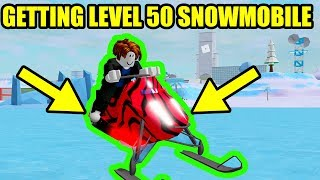 GETTING the LEVEL 50 SNOW MOBILE   Roblox Mad City