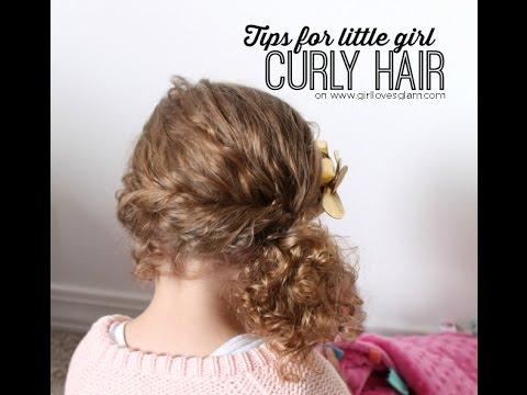 tips little girl curly hair