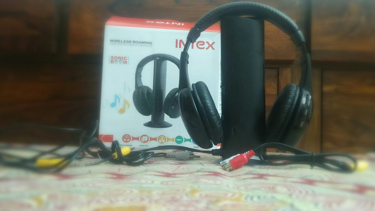 a3111befa38 Unboxing & First impression: Intex wireless Roaming headphones (connect  wirelessly to ...