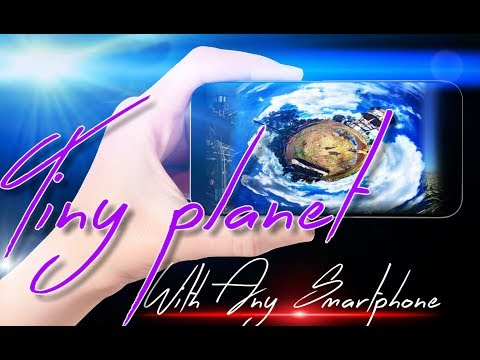 How to make Tiny Planet photo with any smartphone tutorial. D Vlogs And Tutorials.  thumbnail
