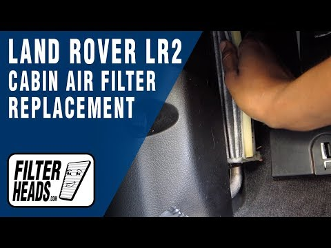 How to Replace Cabin Air Filter 2008 Land Rover LR2