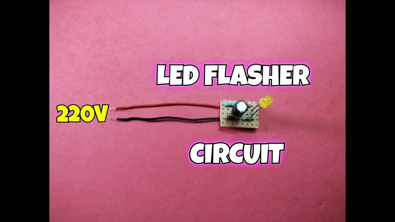 220 Volt Led Flasher Circuit220 Blinking Circuit Simple Single Based Ne555 Circuitsimple