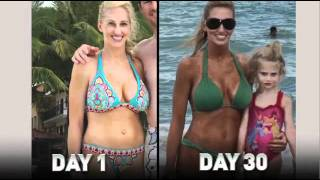 Monica\'s P90X Results- Mother of 3 gets abs.