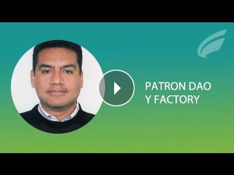 Patrón DAO y Factory