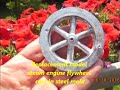 Home shop made model steam engine Flywheel Mold