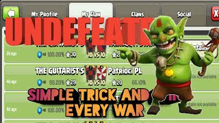 SIMPLE TRICK NEVER LOSE A CLAN WAR IN CLASH OF CLANS | HOW TO WIN EVERY WAR IN COC