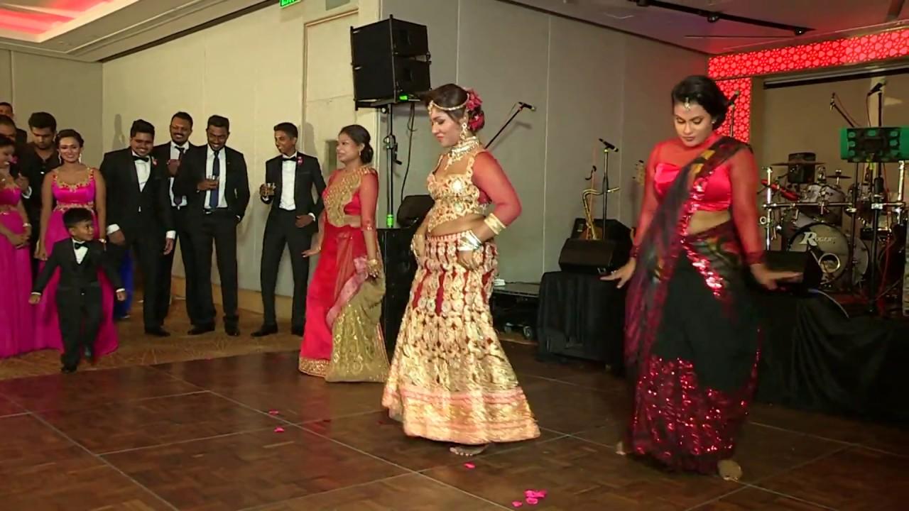 SRI LANKAN BEST WEDDING SURPRISE DANCE EVER BY THE BRIDE!!!
