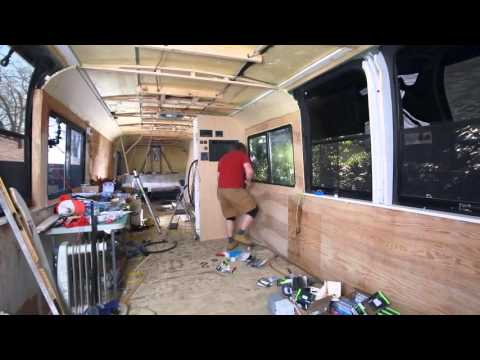 How to build a Bus Conversion S03Ep08 Electricity 50 amp service in the RV installed