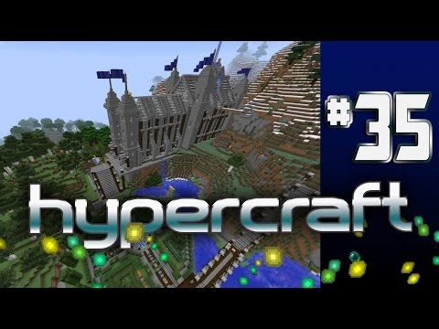 Minecraft Hypercraft - EP 35 - gardens and paths and towers oh my!