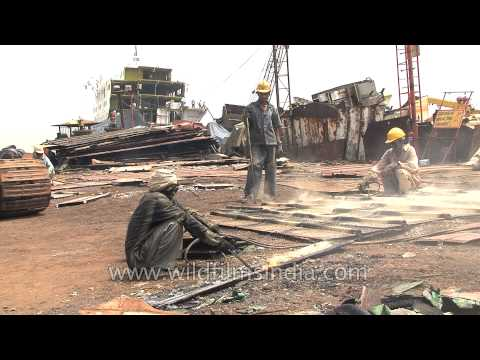 Ship breaking yard of India - Alang in Gujarat