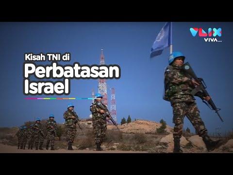 Patroli Prajurit TNI di Perbatasan Israel Penuh Konflik