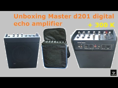 Unboxing Master d201 digital echo amplifier