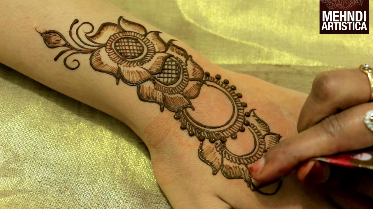 Mehndi Designs Class : Hatho ki arabic henna mehndi design beautiful unique easy