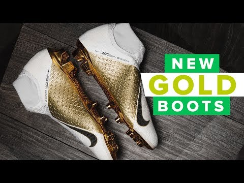 white and Gold Limited Edition Nike