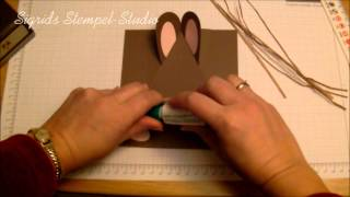 Repeat youtube video Anleitung - Hasenverpackung - Stampin Up -Tutorial