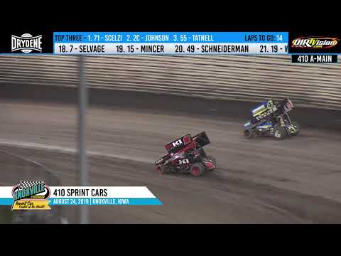 Knoxville Raceway 410 Highlights - August 24, 2019