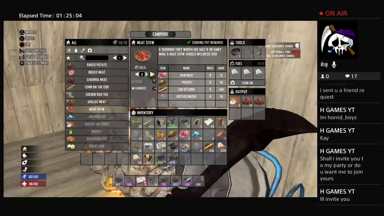 how to make an auger in 7 days to die