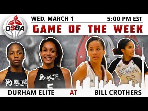 Women's Week 16 - Durham Elite @ Bill Crothers SS Prep