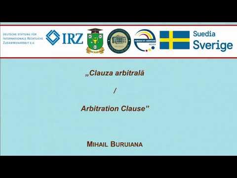 Lect. super. Mihail Buruiana — Clauza arbitrala