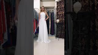 G 2081 Вечернее платье в виде топа из гипюра и длинной шифоновой юбки video