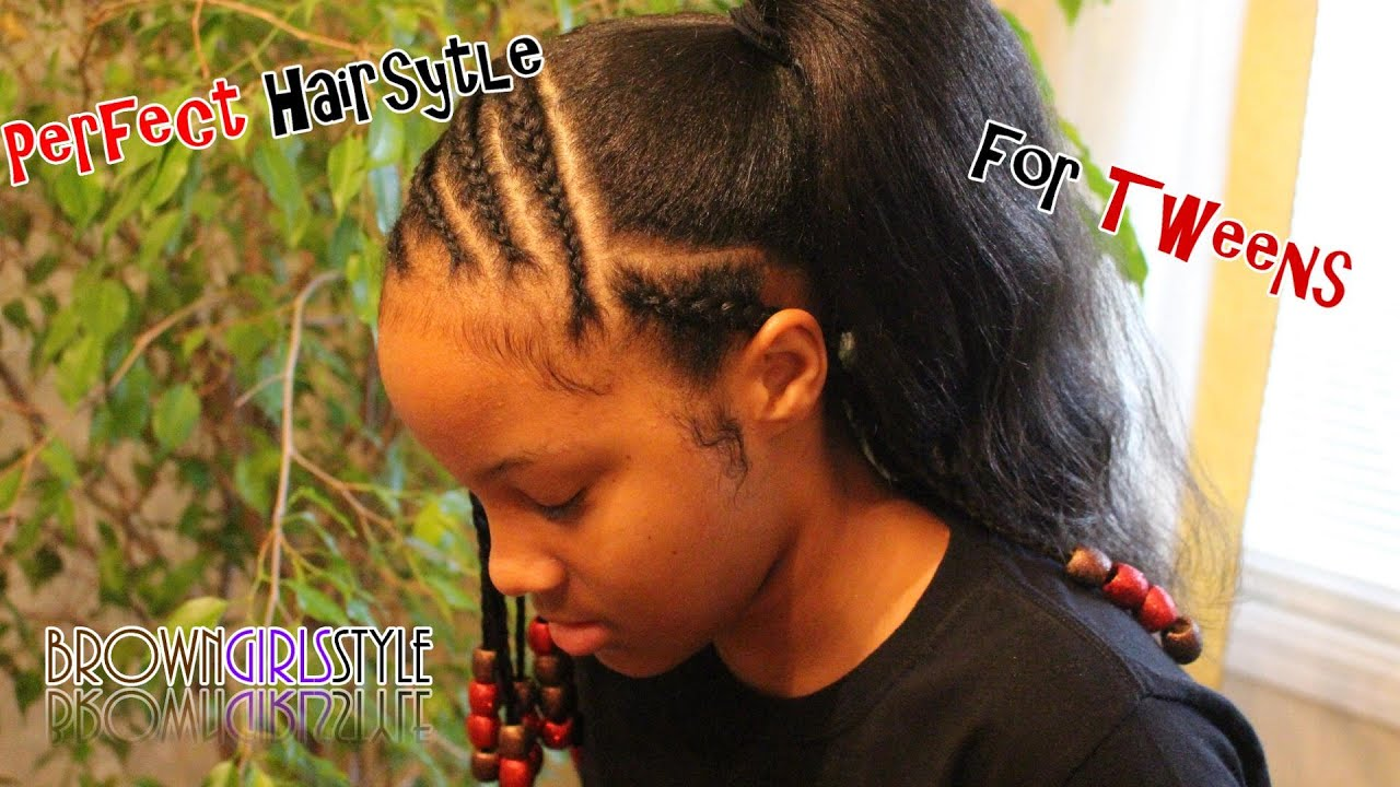 Perfect Natural Hairstyle for Tween Girls - YouTube