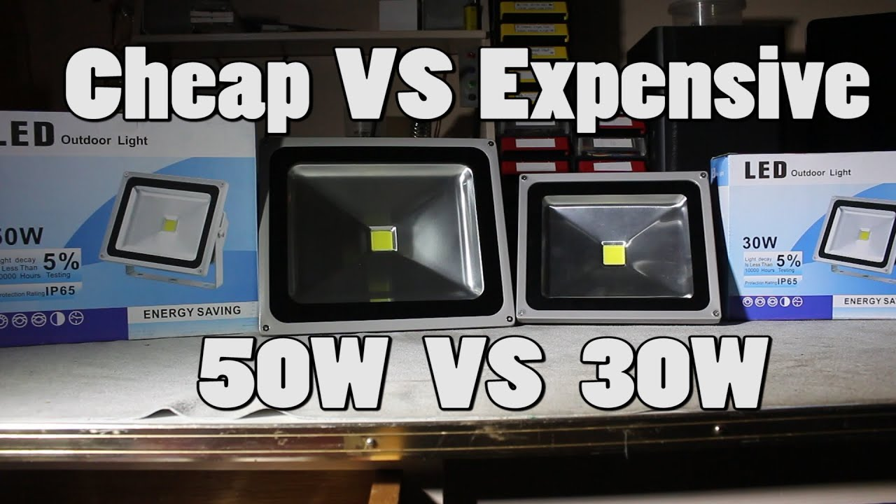 2 50w cheap vs 30w expensive led floodlight teardown and review 2 50w cheap vs 30w expensive led floodlight teardown and review youtube mozeypictures Image collections