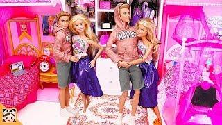 바비와 켄이 쌍둥이 됬어요! 똑같은 인형의집이 두개? 아침 일상 밀착중계 인형놀이 드라마 장난감 놀이 주방놀이 공주 드레스 옷입히기 소꿉놀이  | 보라미TV