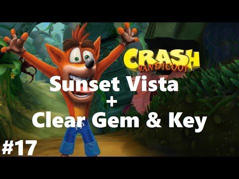 Crash Bandicoot 1 #17 Sunset Vista + Key + Clear Gem (N. Sane Trilogy) 100% Walkthrough Ps4
