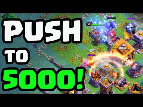 GLOBAL LEADERBOARD - Push for 5000 Trophies in the Clash of Clans Builder Base - LIVE!