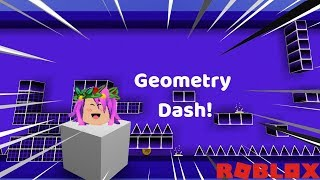 ROBLOX-I TURNED a CUBE THAT MAKES PARKOUR! (Geometry Dash)