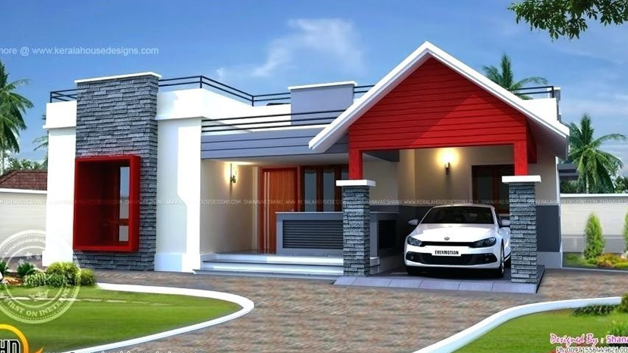 Single story modern house plans ground floor building designs