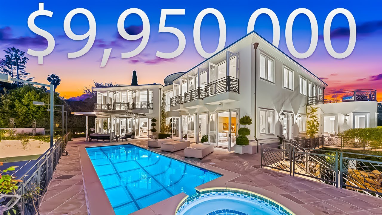INSIDE A $9,950,000 MEGA MANSION With A TENNIS COURT And BASKETBALL COURT | Mansion Tour