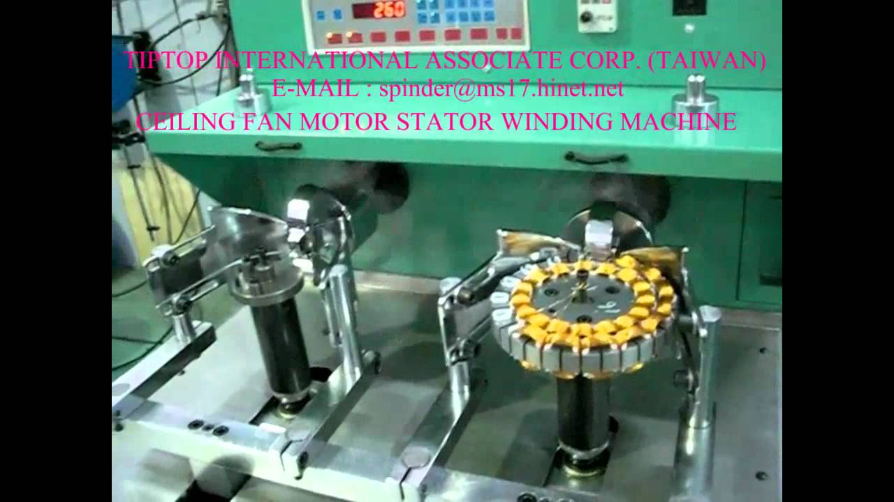 Ceiling Fan Motor Stator Winding Machine Mp4 Youtube