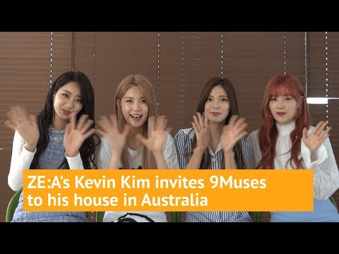 ZE:A's Kevin Kim invites 9Muses to his house in Australia