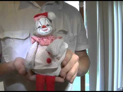 Sitting clown  music  Box