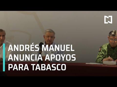 Andrés Manuel López Obrador en Villahermosa, Tabasco