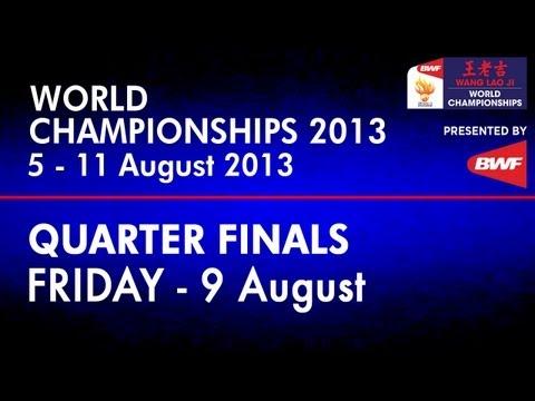 QF - WD - Wang XL./Yu Y. vs Jung K.E./Kim H.N. - 2013 BWF World Championships