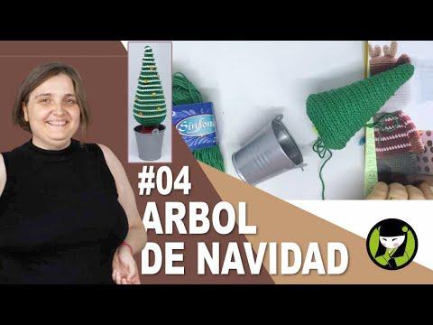 ARBOL DE NAVIDAD TEJIDO AMIGURUMI 04 pino navideño tejido