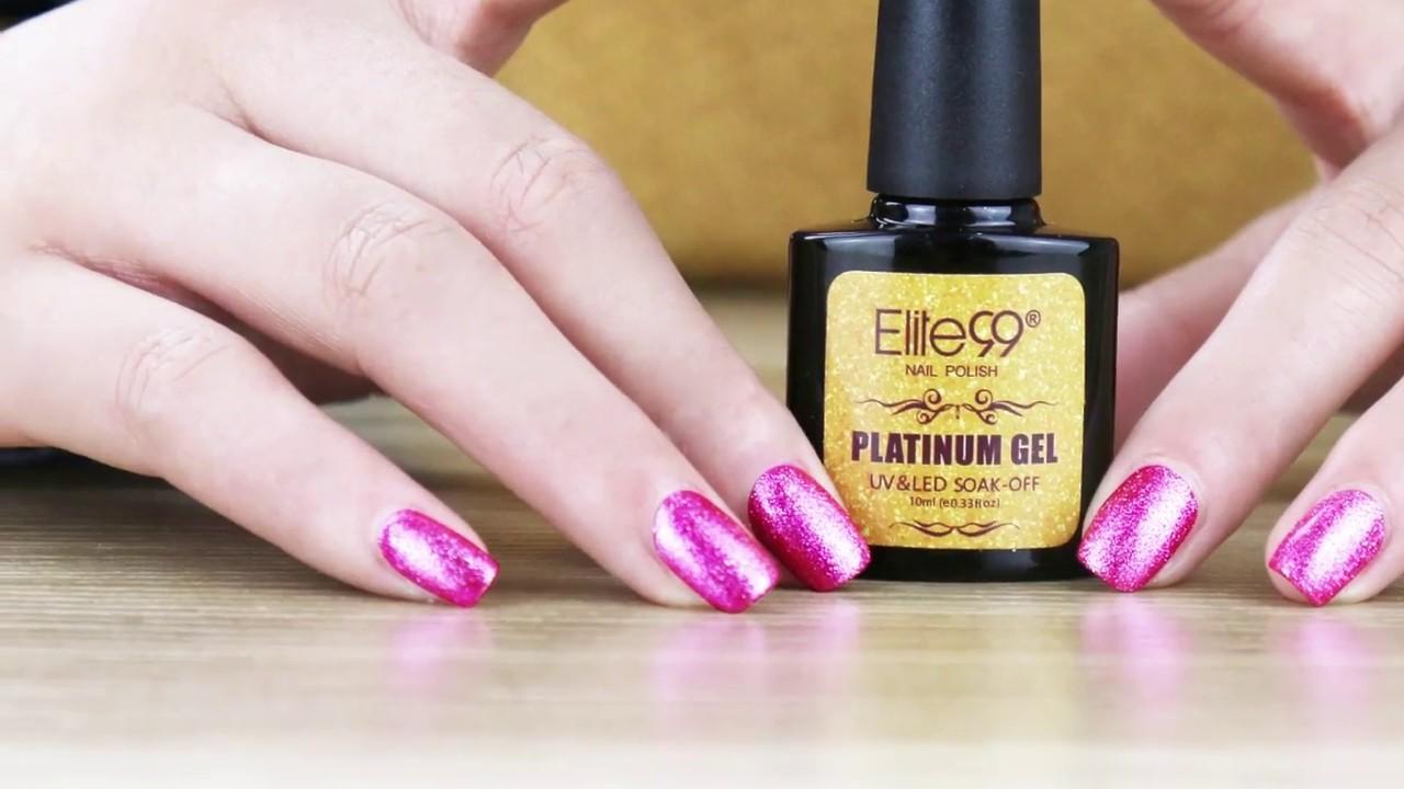 Elite99 Platinum Gel Polish UV LED Soak Off Colour Nail Varnish ...